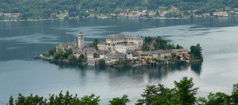 Isola San Giulio from the Sacro Monte