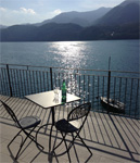 Lakeside living at its best: beautiful sunsets from the wonderful balcony of Villa Heureka at Omegna. Click for more info!