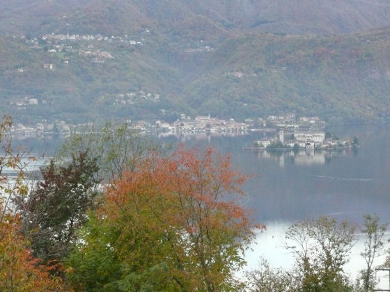 Autumn view of Lake Orta, taken from Villa Gelsomina