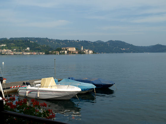 Isola San Giulio from Pella - photo courtesy of Mike Brown