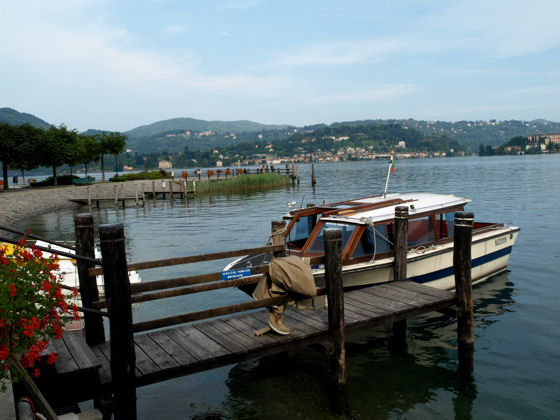 Looking back to Orta San Giulio from Pella - photo courtesy of Mike Brown