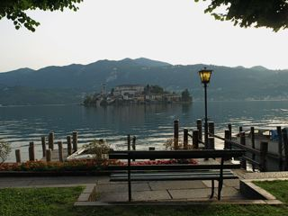 Isola San Giulio from Orta San Giulio - photo courtesy of Mike Brown