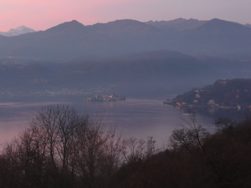 Beautiful soft colours of winter sunset from Villa Gelsomina