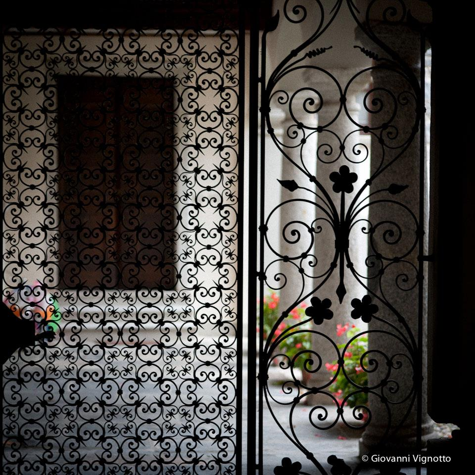 Ornamental ironwork in one of the courtyard houses - Orta San Giulio - Photo with permission and courtesy of Giovanni Vignotto 2012