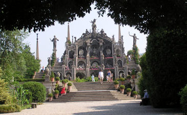 The immaculate gardens of the Isola Bella on Lake Maggiore