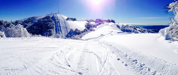 Fresh snow and fantastic weather at the Mottarone!