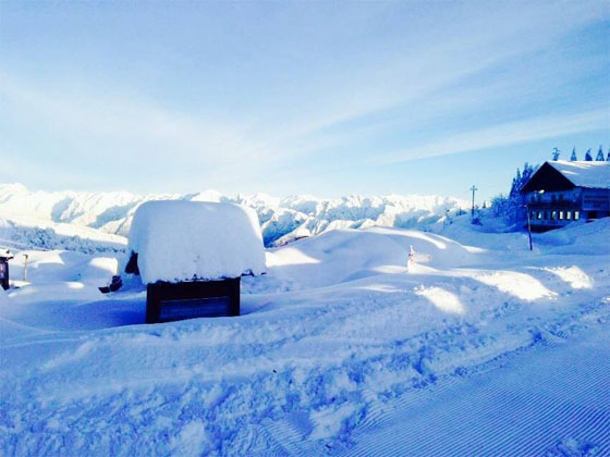 Excellent snowfall - about 2 metres fell at the beginning of February 2014