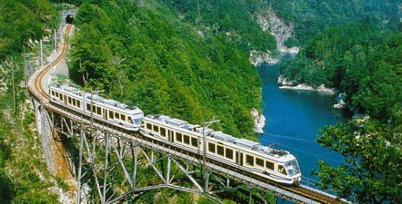 The spactacular single track railway, the Vigezzina, running the length of the Val Vigezzo, from Domodossola to Locarno.