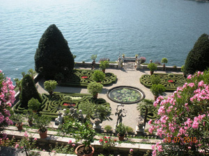 The beautiful terraces of Isola Bella on Lake Maggiore, makes a great day trip from Lake Orta!